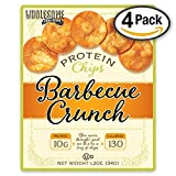 quest bbq protein chips - Protein Chips, 10g Protein, Gluten Free, Low Carbs, 4 Pack (Barbecue Crunch)