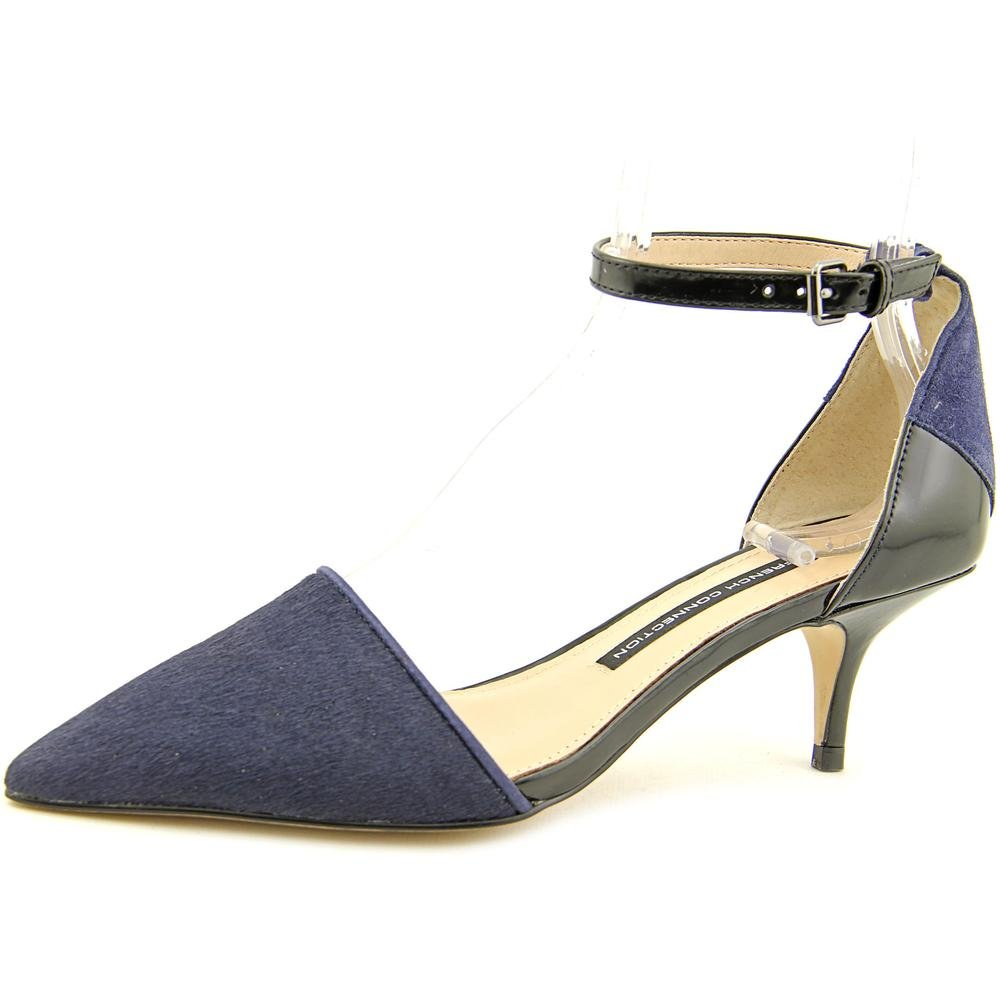 36 M EU//6 M US Night Shade//Black French Connection Womens Enora Dorsay with Ankle Strap