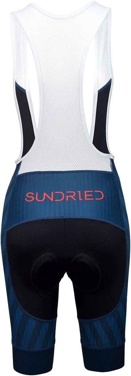 Sundried Womens Pro Tr/ägerhose Padded Radhose Rennrad Fahrrad-Kleidung Mountainbike Bekleidung