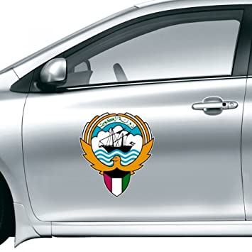Kuwait africa national emblem car sticker on car styling decal motorcycle stickers for car accessories gift