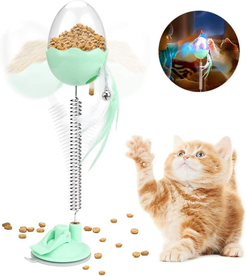 E More 4 IN 1 Cat Interactive Toys, Cat Food Treat Dispenser