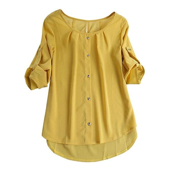Blusa Suelta Mujer,Blusa Superior Irregular de la Camiseta de Las Mujeres de