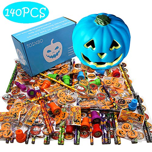 JoinBo140PCS 20 Pack Assorted Halloween Stationery Gift Sets Suitable for Halloween Classroom Exchange Parties and Teal Pumpkin Project