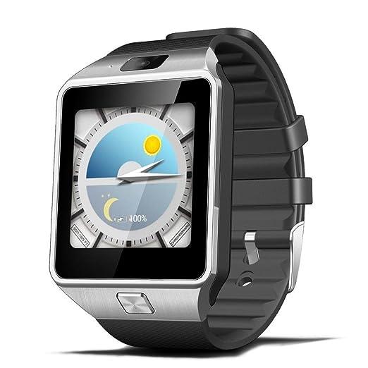Reloj inteligente deportivo con camara para iphone y Android Digital de mujer y hombre unisex: Amazon.es: Relojes