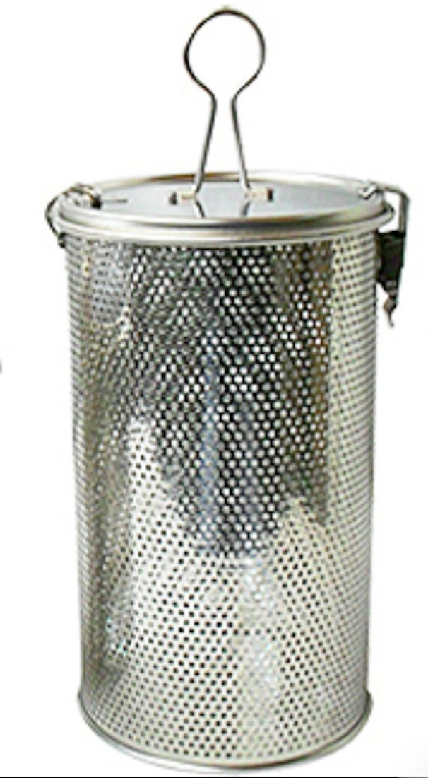 Commercial Grade D 3.9'' X H 6.9'' Genuine Stainless Steel 18/8 Perforated Tall Strainer - One Touch Lock System - Restaurant & Home Use