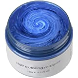 Hair Color Wax, KooJoee Temporary Hair Dye Easy Wash Hairstyle Cream 4.23 oz Disposable Hair Pomades, Natural Matte Hair…