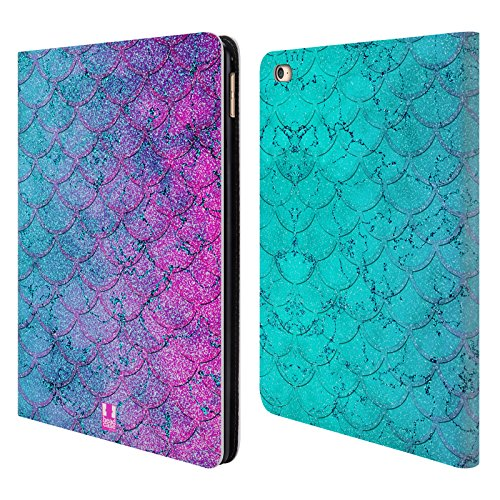 Head Case Designs Bubblegum Mermaid Scales Leather Book Wall