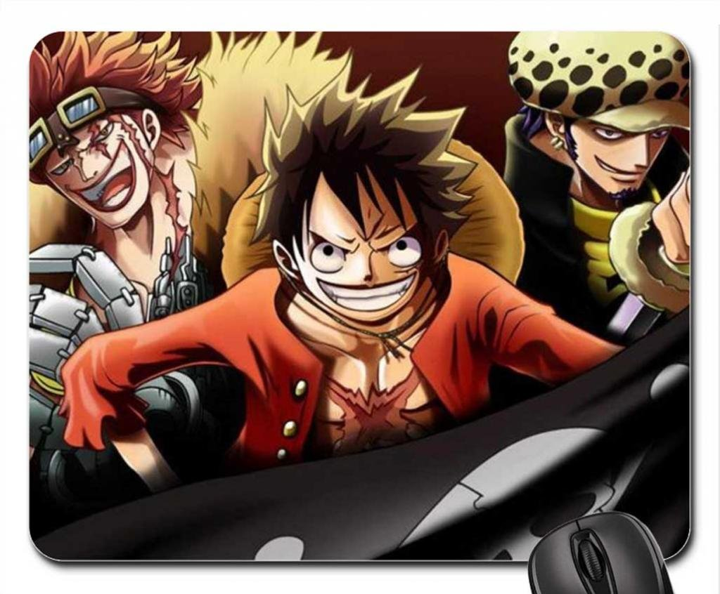 Eustass Kid Monkey D Luffy Trafalgar Law Mouse Pad
