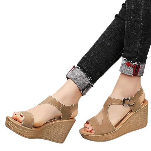bf1db3ebb5e81 Amazon.com: Memela Clearance sale Women's Sandals Wedges Heel Shoes ...