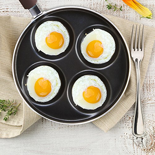 MiniInTheBox Four Holes Non-stick Fried Egg Pan 24CM Cooker Pan Innovative & Elegant Design