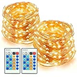 TaoTronics LED String Lights 66ft 200 LEDs Dimmable Festival Decorative Lights for Seasonal Holiday, Complete Waterproof, UL Listed(Copper Wire Lights, Warm White)-2 Pack: more info