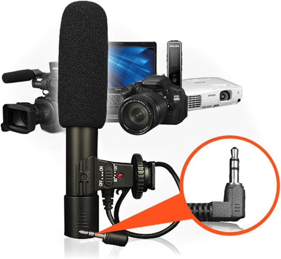 Fishoo 3.5mm Universal Microphone External Stereo Mic for Canon Nikon DSLR Camera DV Camcorder
