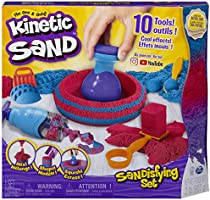 Kinetic Sand - Sandisfying Set - Includes 10 Tools & Molds - 2 lb - Ages 3+