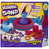 Toys : Kinetic Sand, Sandisfying Set with 2lbs of Sand & 10 Tools, for Kids Aged 3 & Up