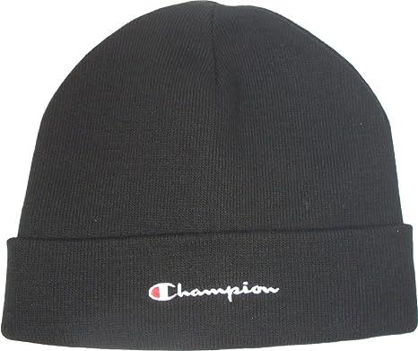 9e537ebbeb4 Champion Beanie 804100 Black - Black - One Size  Amazon.co.uk  Clothing