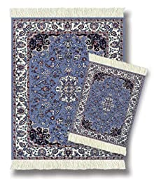 Lextra (Contemporary Jaipur), MouseRug & CoasterRug Set, blues, ivory and pink, 10.25\