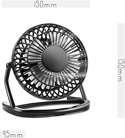 KOROSTRO Koroestro - Ventilador USB para Mesa (inclinable 360°, Mini USB, Ideal para el Escritorio, Incluye Interruptor de Encendido/Apagado), Color Negro: Amazon.es: Informática