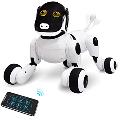 ONEASIA Puppy Smart Voice & App Interactive Toy for All Boys & Girls w/Touch Control: Clothing