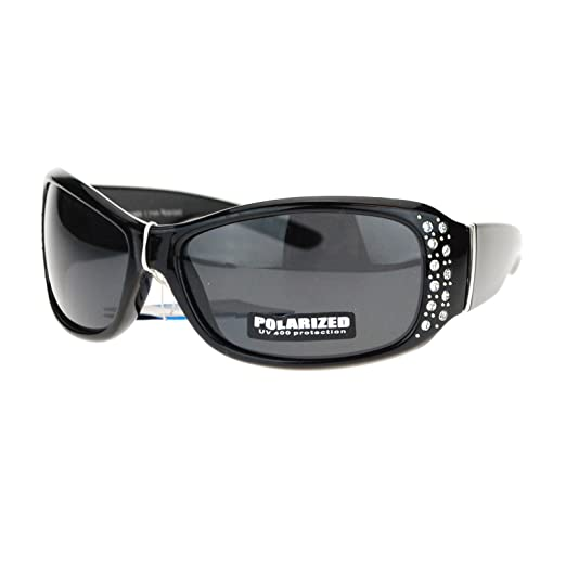 81b4a6319d Anti Glare Polarized Womens Rhinestone Oval Rectangular Designer Sunglasses  Black