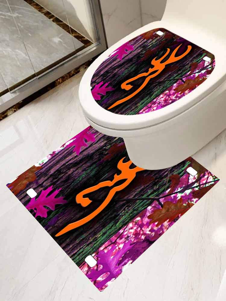Cover Decals Stickers Toilet Paste Set 2 Orange camo Browning Leaf Decal Sticker