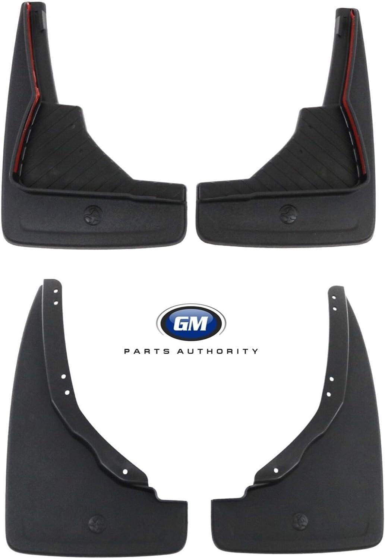 2018 Chevrolet Traverse Front /& Rear Splash Guards Molded Black Genuine OEM GM General Motors