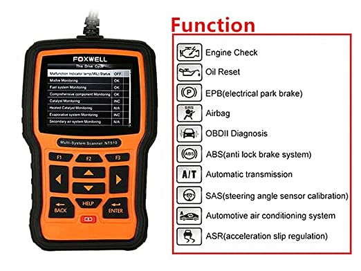 gm : Foxwell Nt510 Car Code Readers with Brake Deactivation