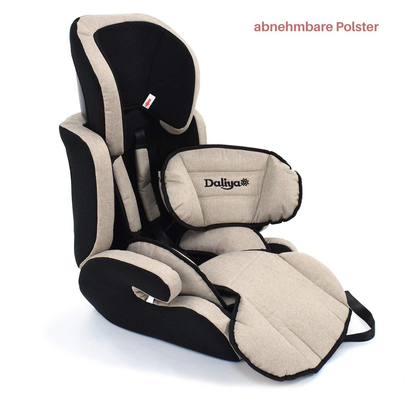 Schwarz Daliya mitwachsender Autokindersitz Autositz Kinderautositz 9-36kg Gruppe 1+2+3 ECE R 44//04 Beige