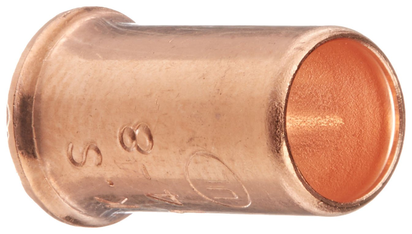 Easy-Twist Copper Crimp Sleeve Wire Connector, 18-8 AWG Wire Range (Blister Box of 100)