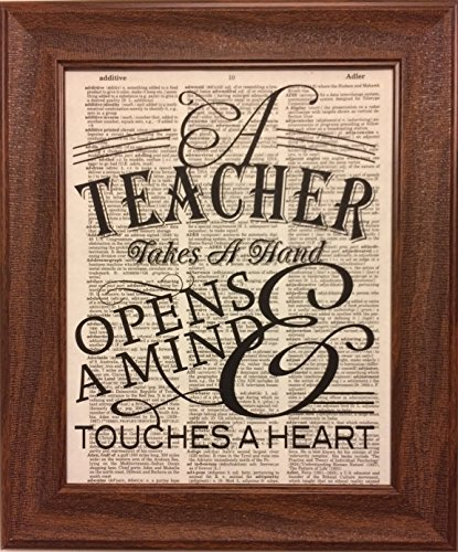 Teachers Quote Encyclopedia Book Page Artwork Print Picture Poster Home Office Bedroom Nursery Kitchen Wall Decor - unframed