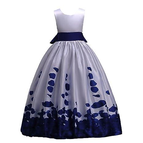 2334811fe JYJM - Vestido formal para niña de 6 a 12 años, diseño de flores ...