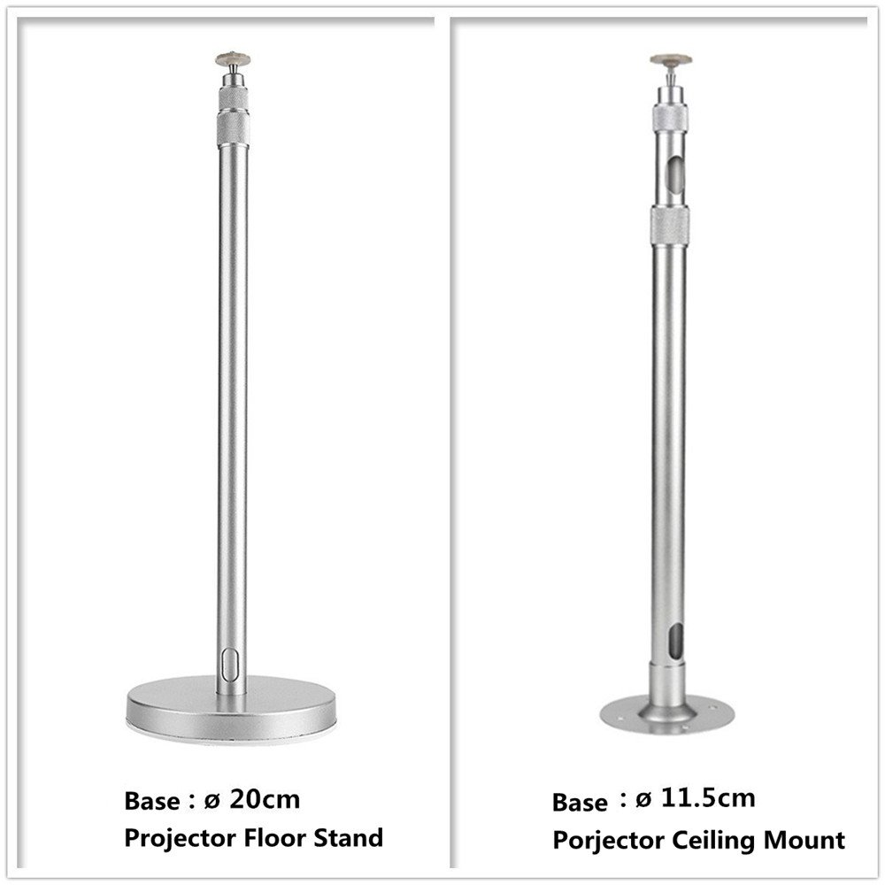 Zice aluminio Proyector Soporte de suelo con 67 - 120 cm, altura ajustable: Amazon.es: Electrónica