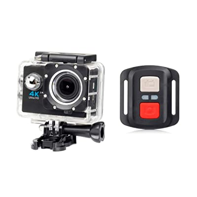 Tianranrt Full HD 1080p vue à grande vitesse Wifi H16r Action Sports Caméra sous-marine caméscope étanche 30metres de profondeur + Remote App contrôle seule vue Aautomatic continue des