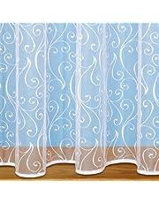 "John Aird Scroll Design Net Curtain - Sold By The Metre - (Drop: 45"" (114cm))"