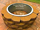 Stainless Steel Fire Pit Ring Liner With Top Flange Lip