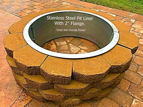 Stainless Steel Fire Pit Ring Liner With Top Flange Lip by Fire Pit Ring