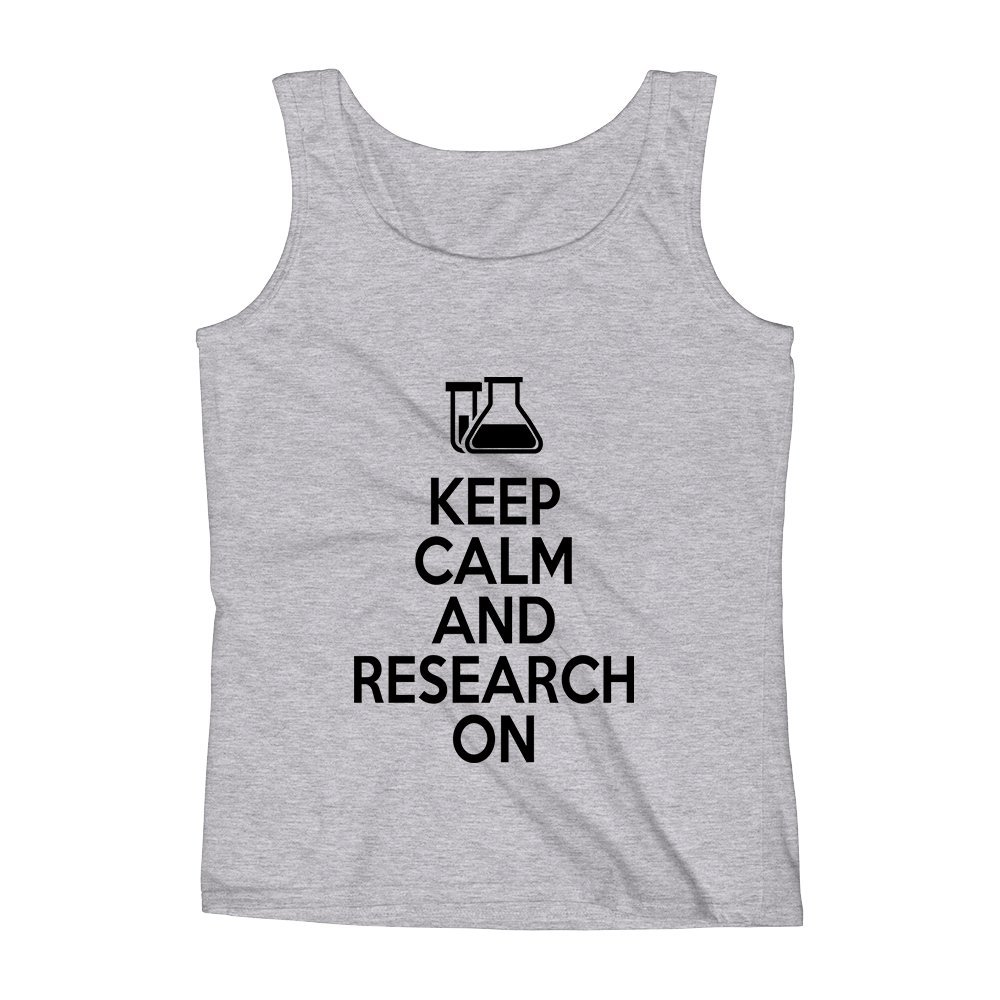 Mad Over Shirts Keep Calm and Research on Laboratory Unisex Premium Tank Top