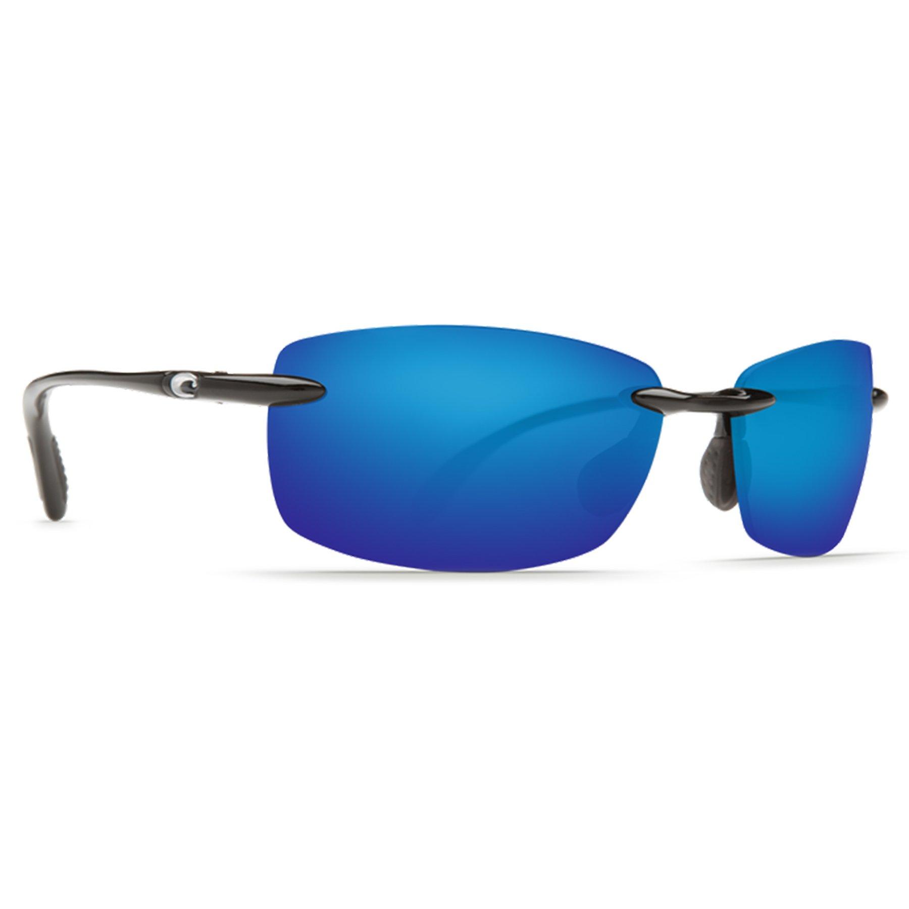 Costa del Mar BA 11 OBMP 59.6 mm Unisex-Adult Ballast Polarized Iridium Rimless Sunglasses, Black/Blue Mirror 580 Plastic Lens
