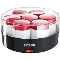 Severin JG 3516-501 - Yogurtera de 7 yogures, color gris y rojo