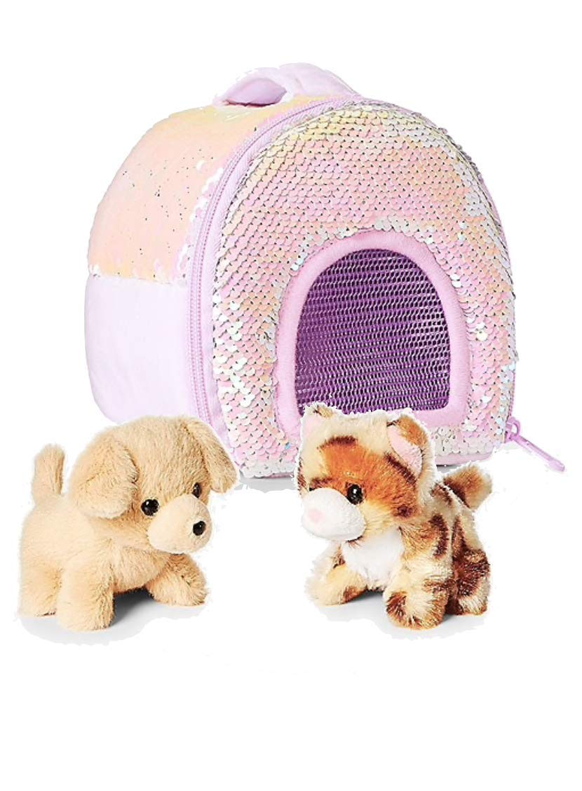 3d52308b8 Justice pet shop bundle two miniature puppy kitty and flip sequin carrier  office products jpg 830x1128