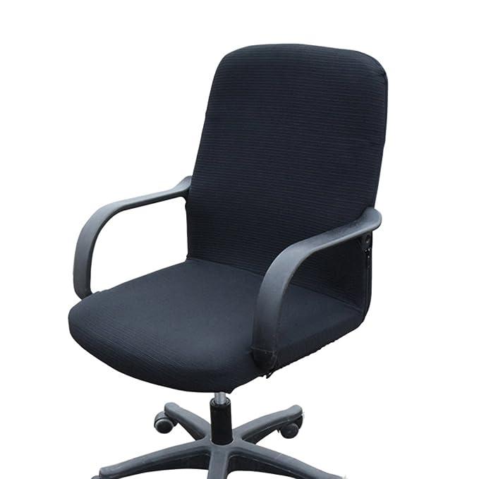 Funda MiLong para silla de oficina. Funda elstica y extrable, elastano, negro, Small