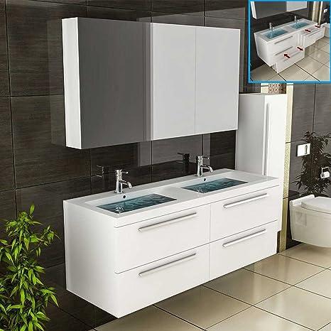 Badtisch Doppelwaschbecken Zwei Einzelne Bad Badezimmer ...