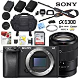 Sony a6300 4K Mirrorless Camera ILCE-6300M/B Alpha (Black) with 18-135mm F3.5-5.6 OSS Lens and Case Extra Battery Memory Card Pro Photograpy Bundle