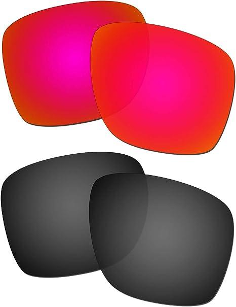 HKUCO Reforzarse Lentes de Repuesto para Oakley Sliver XL Rojo ...