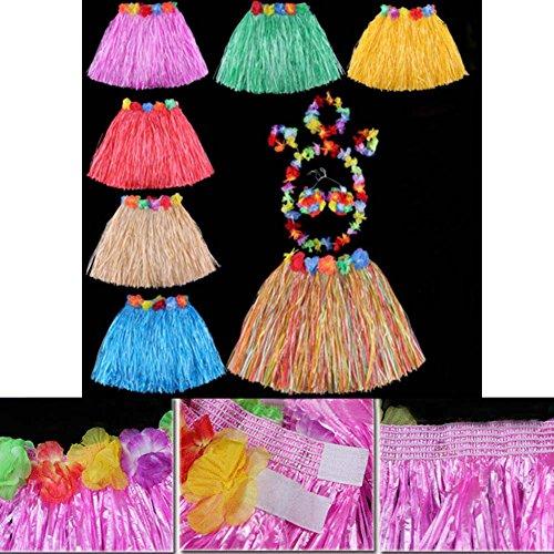 Jupe Hawaïenne Hula Fête De Fantaisie Costumes De Courts, De Couleur