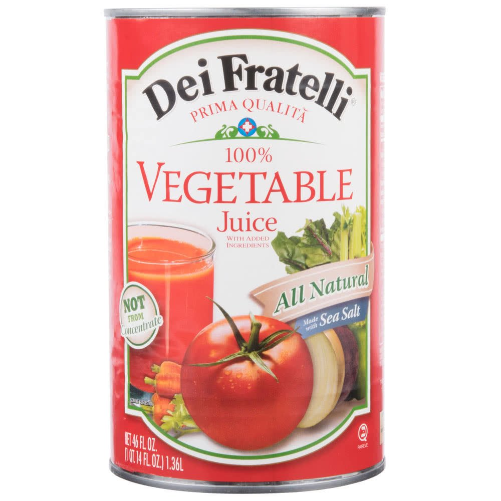 TableTop King 46 oz. Canned Vegetable Juice - 12/Case by Table Top King