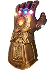 Kids Infinity Gauntlet Portable Electronic ThanosGlove Arm LED Light PVC Gloves Toys Gift for Halloween Carnival Party