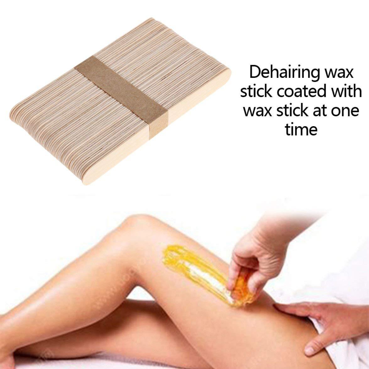 Kongqiabona Mini Wood Sticks Beauty Body Tools Depilaci/ón Cera Wood Stick Wax Stick Ice Cream Stick Mask Stick Face Sticks
