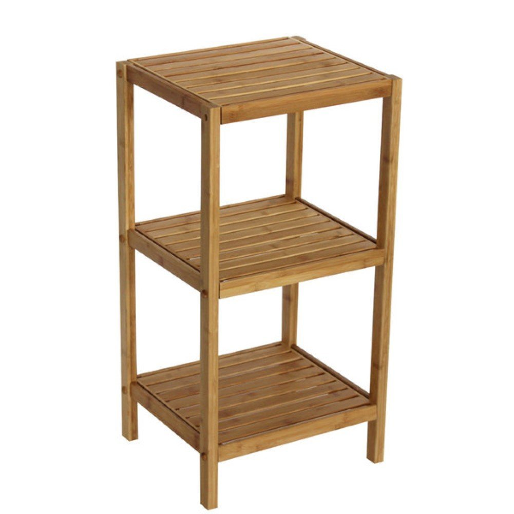 Spa 14.5'' x 28.5'' Bathroom Shelf, Free Standing Shelving (Natural)
