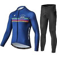 Moxilyn Ropa de Ciclismo para Hombre Traje de Bicicleta Conjunto de Verano Top+Bib Shorts Acolchados Almohadilla de Asiento de Gel 9D para Montar En Bicicleta Conjunto C/ómodo y De Secado R/ápido