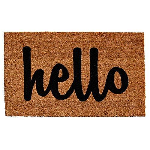 Calloway Mills 100341729NBS Hello Doormat, 17